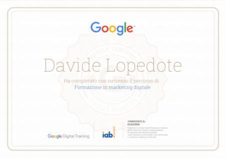 attestato google digital marketing