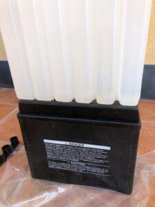 inserimento acido nella batteria